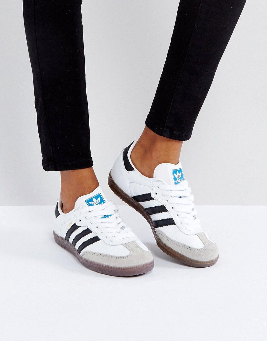 ADIDAS ORIGINALS ADIDAS ORIGINALS SAMBA SNEAKER IN WHITE - WHITE.   adidasoriginals  shoes   48d8737b95c