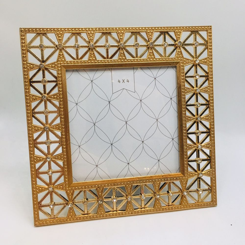 Windsor Photo Frame 4x4 Gold Bling Crystal Embellished Picture