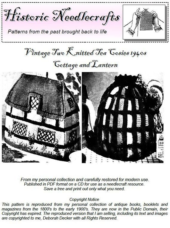 Two Vintage Tea Cosy Knitting Patterns from the 1940s
