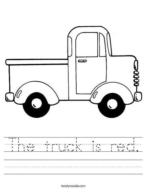 Orange Truck Worksheet Alfabeto Preescolar Pintura En Tela