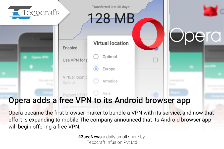 opera #free #vpn #for #android #browser #app #3secNews