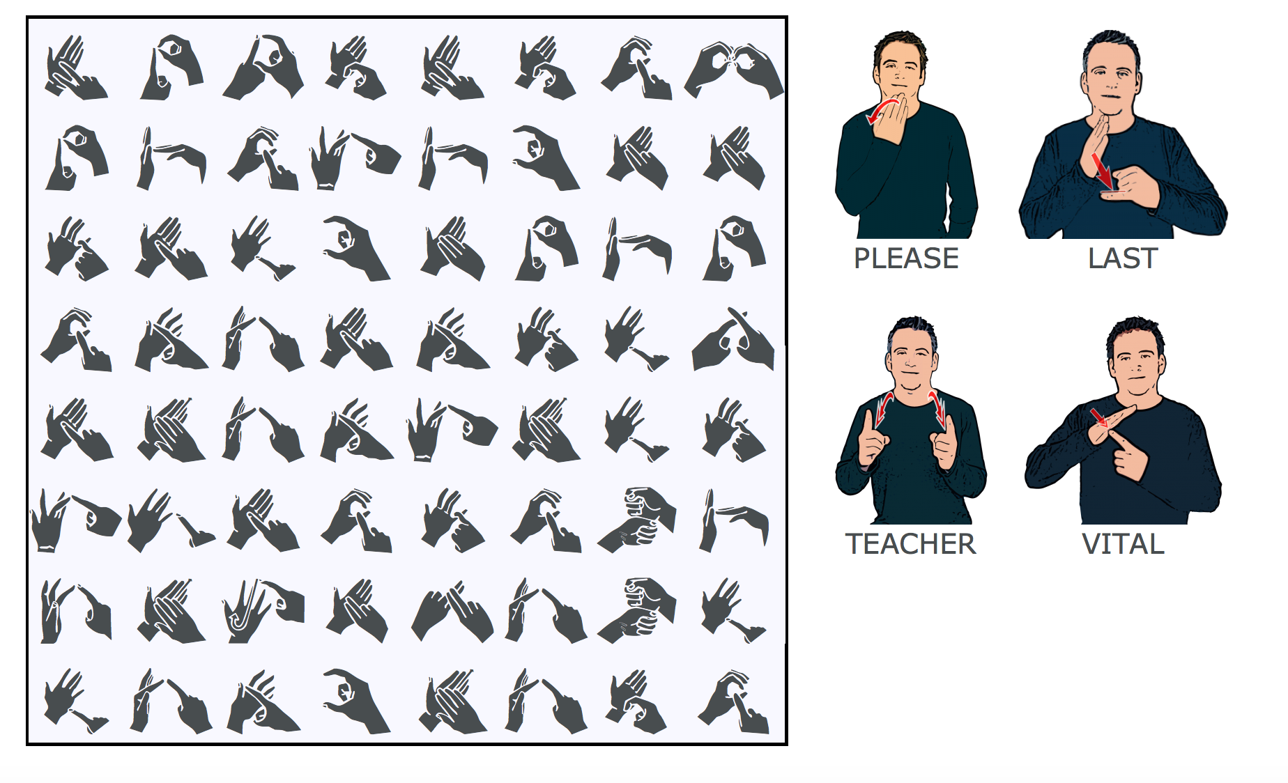 Practice your fingerspelling skills and learn some new signs with our online BSL word search puzzles. http://www.british-sign.co.uk/bsl-british-sign-language/bsl-word-search/