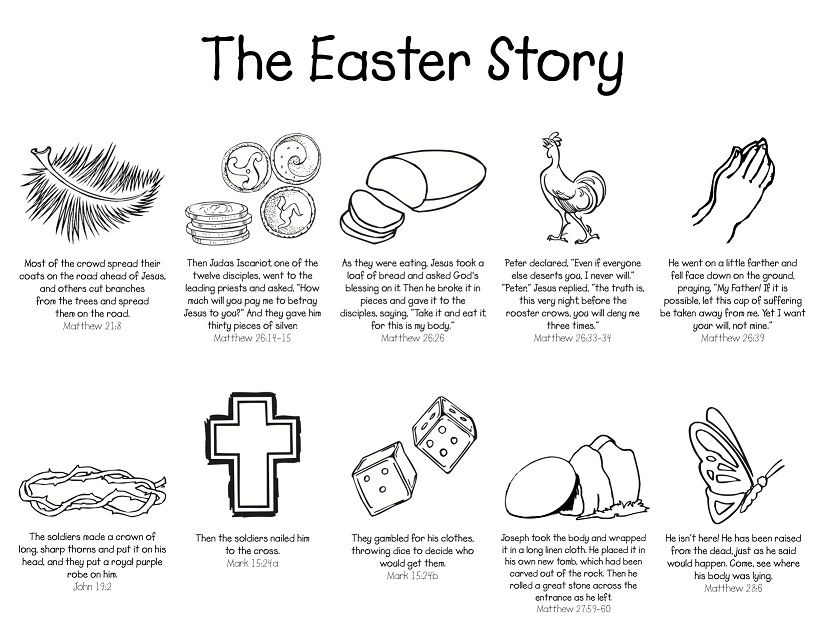 Holy Week Free Easter Story Coloring Page