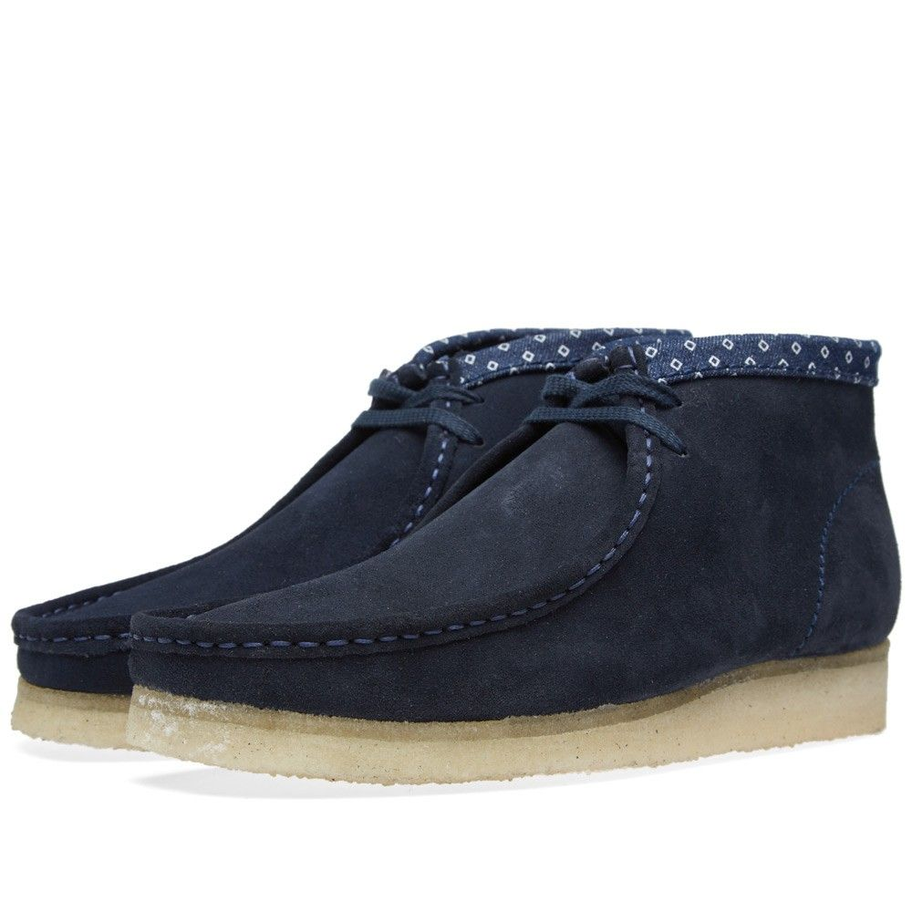 5d2a793a Clarks Originals Wallabee Boot (Navy & Multi Suede) | Things to Wear ...