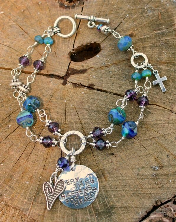 """""""Everything Happens for a Reason"""" Double Strand Bracelet   Mermaid Tears Jewelry"""