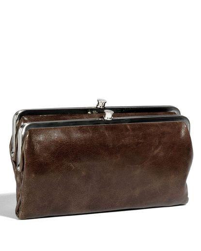 hobo original lauren double frame clutch wallet mocha - Double Frame Clutch Wallet