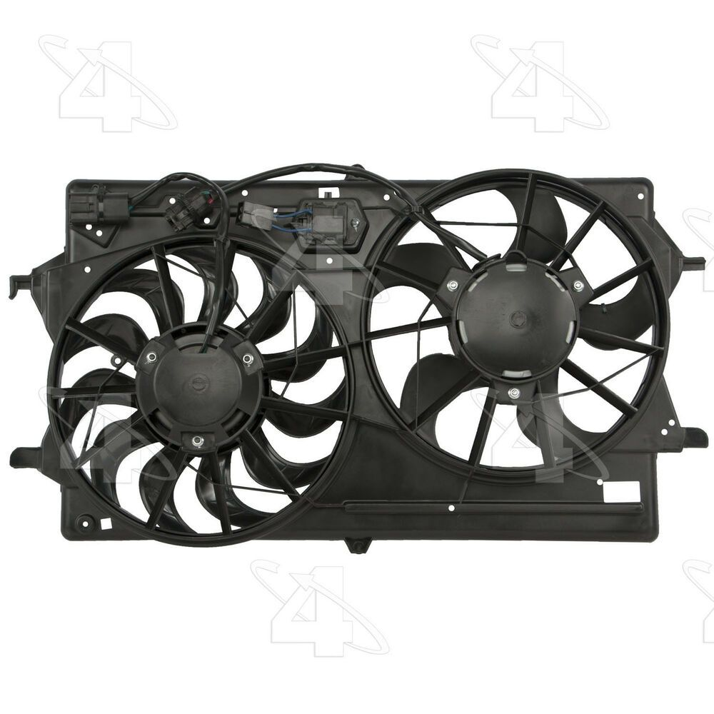 Dual Radiator And Condenser Fan Assembly Rad Cond Fan Assembly Fits Focus Ford Focus Cars Trucks Truck Parts