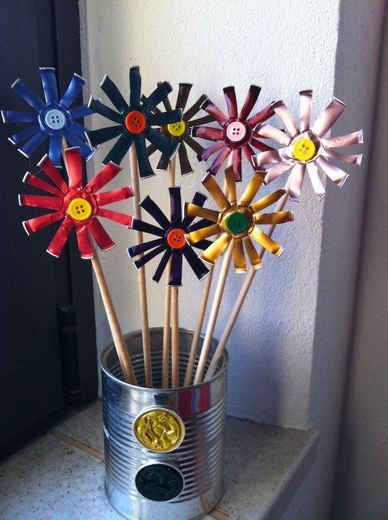 Recycled Flowers Manualidades Manualidades Recicladas Reciclar Capsulas Nespresso