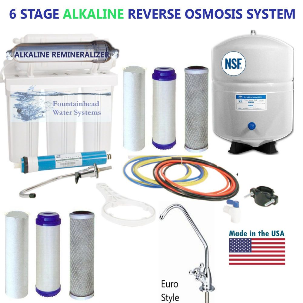 REVERSE OSMOSIS ALKALINE WATER FILTER SYSTEM EXTRA SET