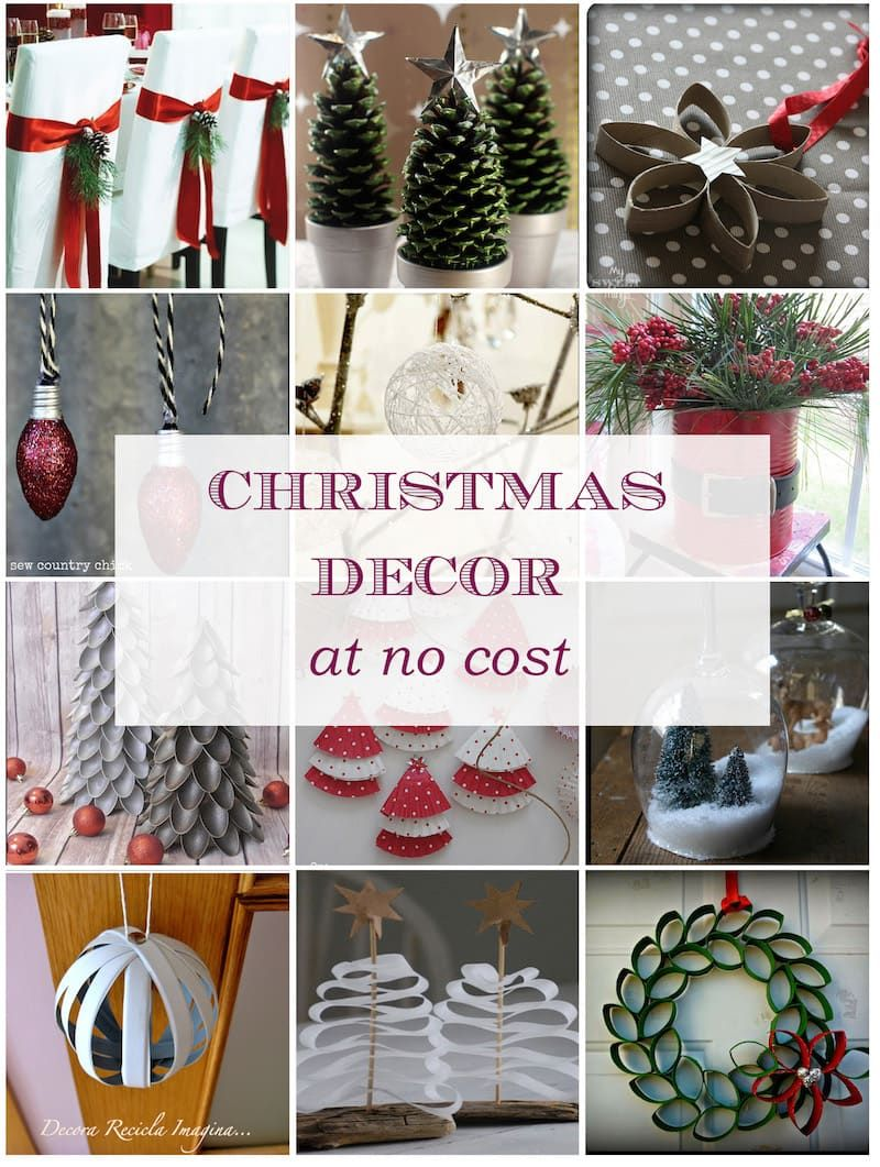 Christmas Decor At No Cost | Christmas | Pinterest | Decoration ...