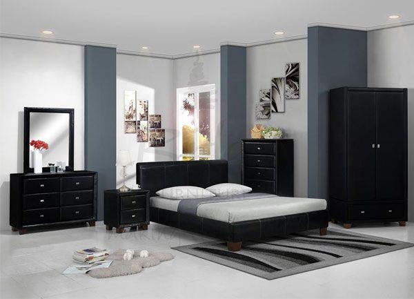 couleur peinture chambre meuble noir | decoration et design d ...