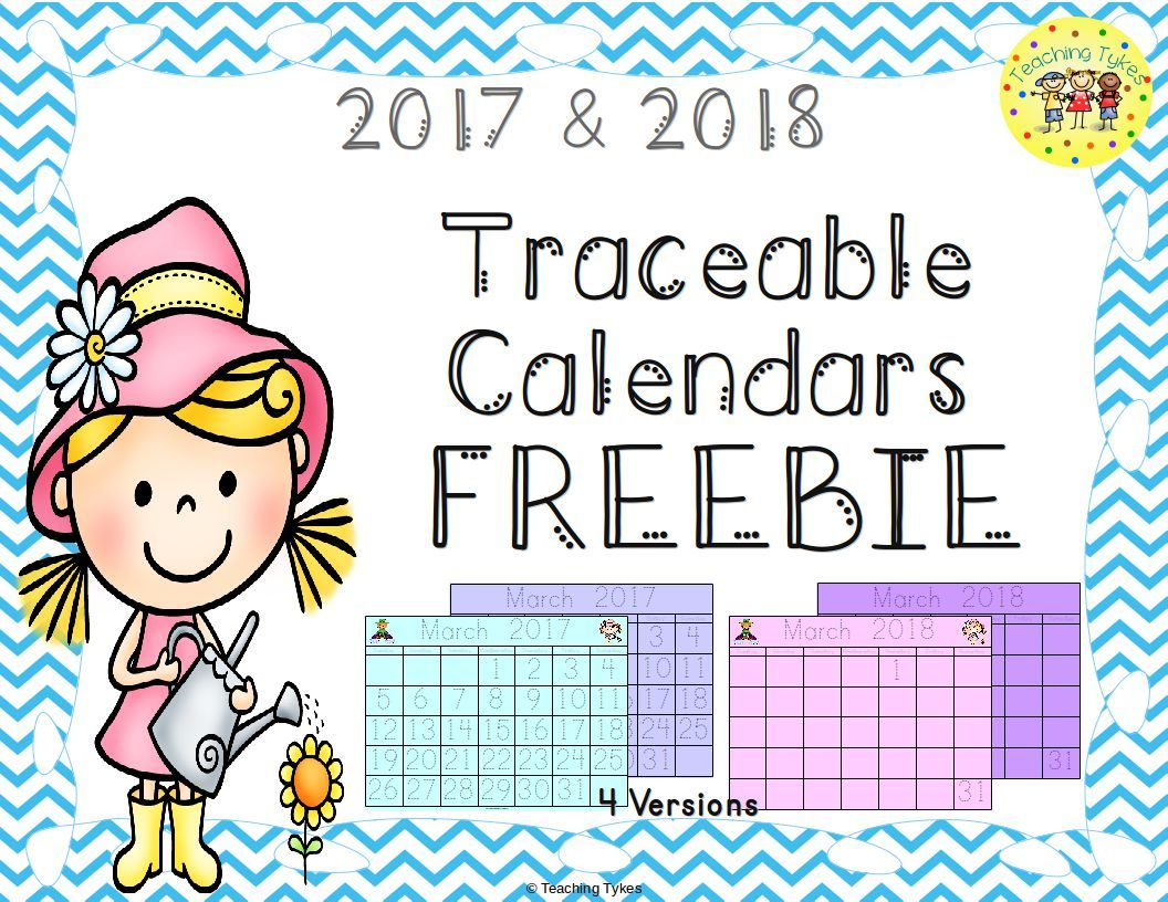 Calendar Traceable Freebie