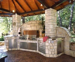 Our Grill Will Be On The South Side Of Our House And If You Have Ever Lived In West Texas You Know A Outdoor Living Outdoor Living Areas Outdoor Kitchen Design