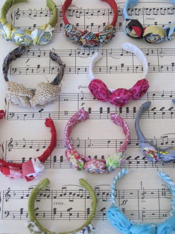 Fabric flower cuff  www.trixiegirl.etsy.com