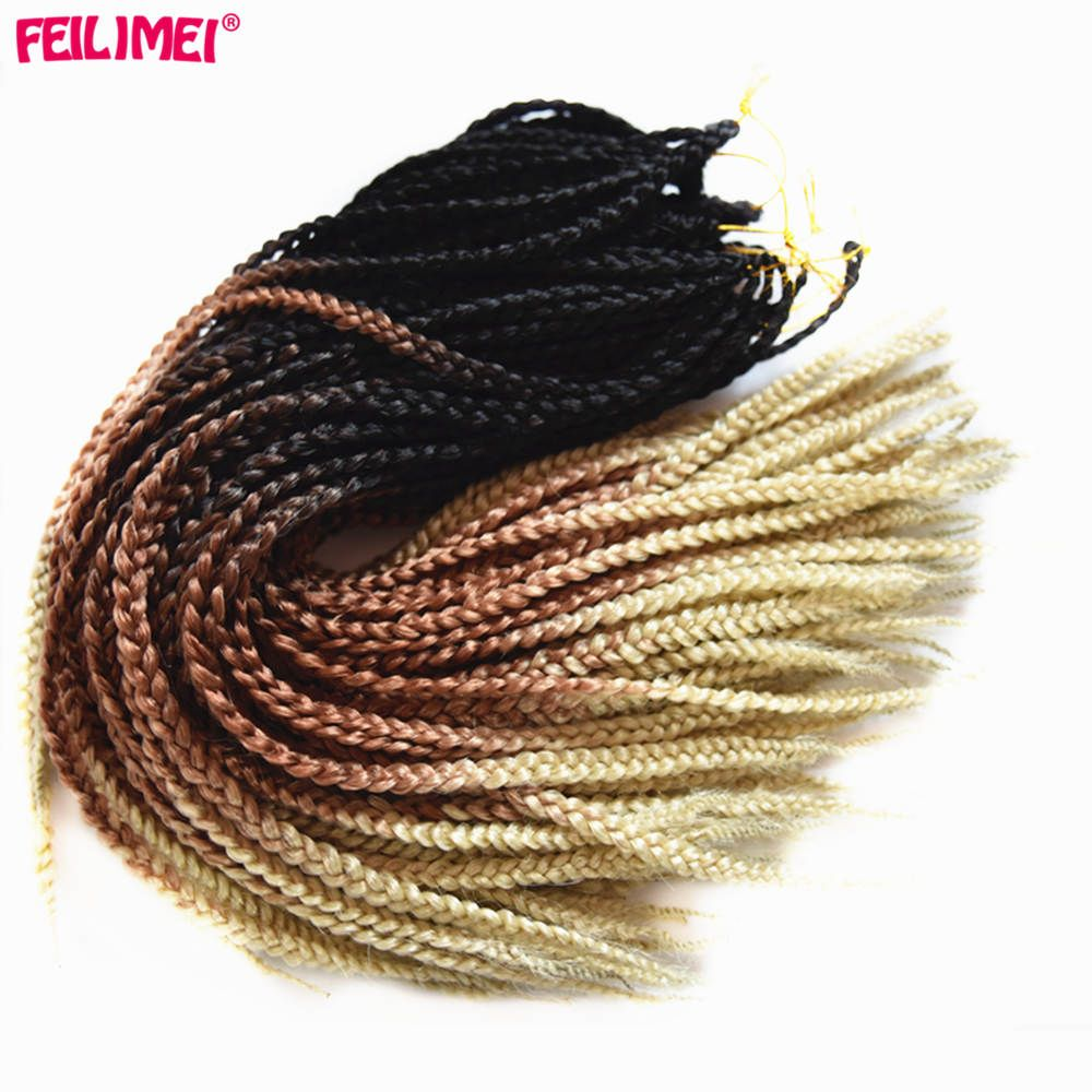 Feilimei ombre blonde freestress braiding hair extensions synthetic