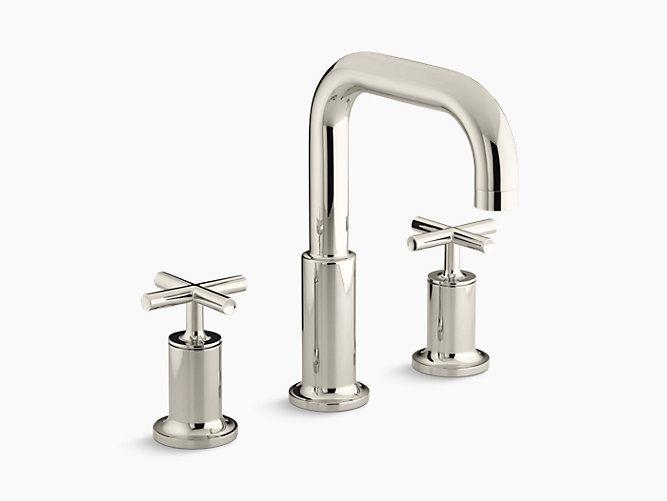 Purist Deck Mount High Flow Bath Faucet Trim K T14428 3 Kohler