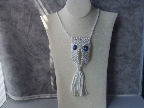 Macrame Owl Necklace Pattern
