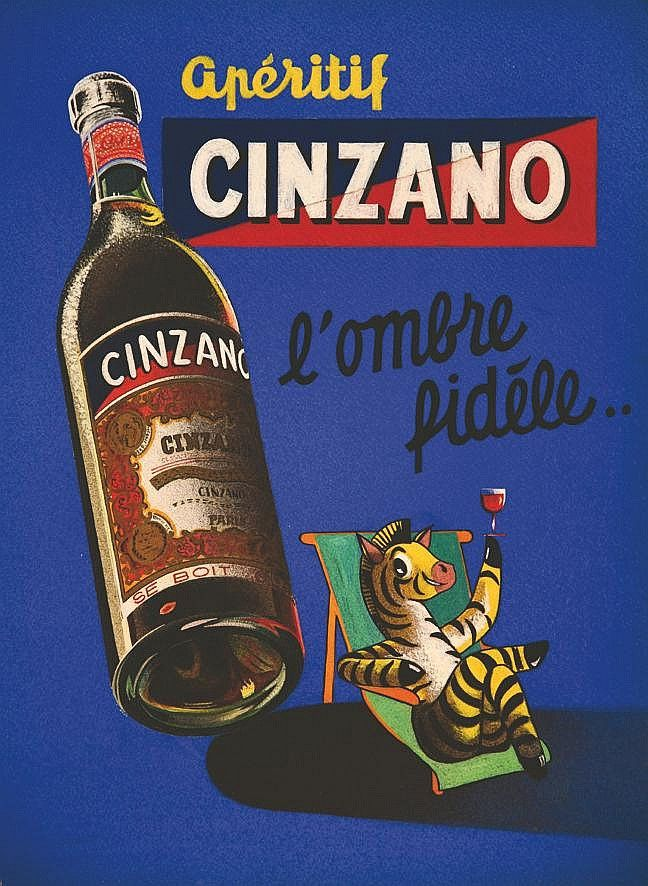 Cinzano - 1950\'s - (Y. Le Comte) - | Aperitivo Italiano | Pinterest ...