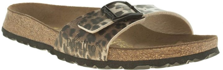 08baee3edb8 Womens Birkenstock Beige   Brown Madrid Leopard Sandals
