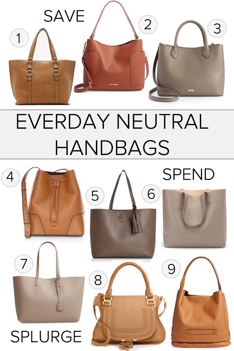 Neutral Everyday Handbags For Fall