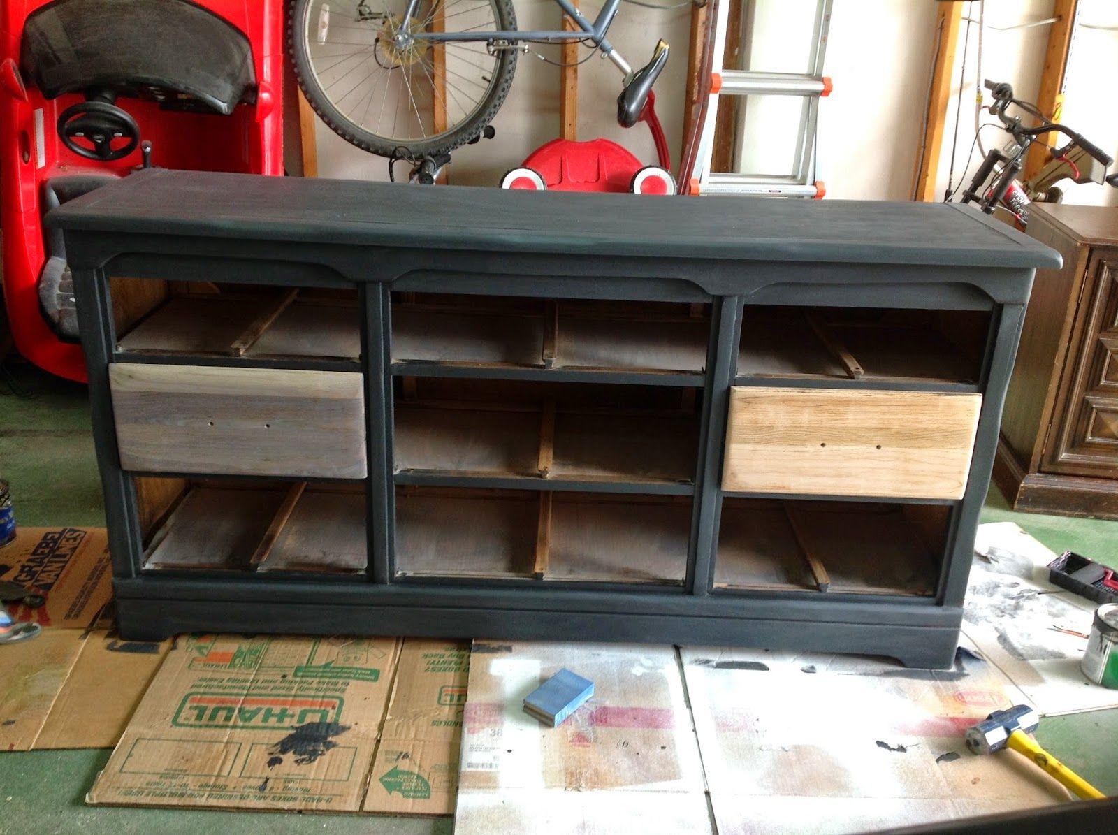 Chalkboard Dresser Industrial interior loft, Industrial