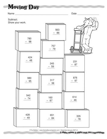 Moving Day Lesson Plans The Mailbox Kids Math Worksheets Math Writing Education Math