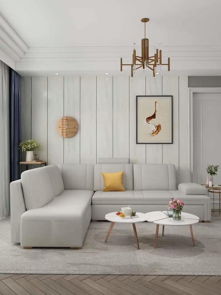 L Shape Bid Folding Sofa Bed Double Bed Bid Double Folding Lshape Sofa In 2020 Simple Living Room Decor Furniture Design Living Room Living Room Sofa Design