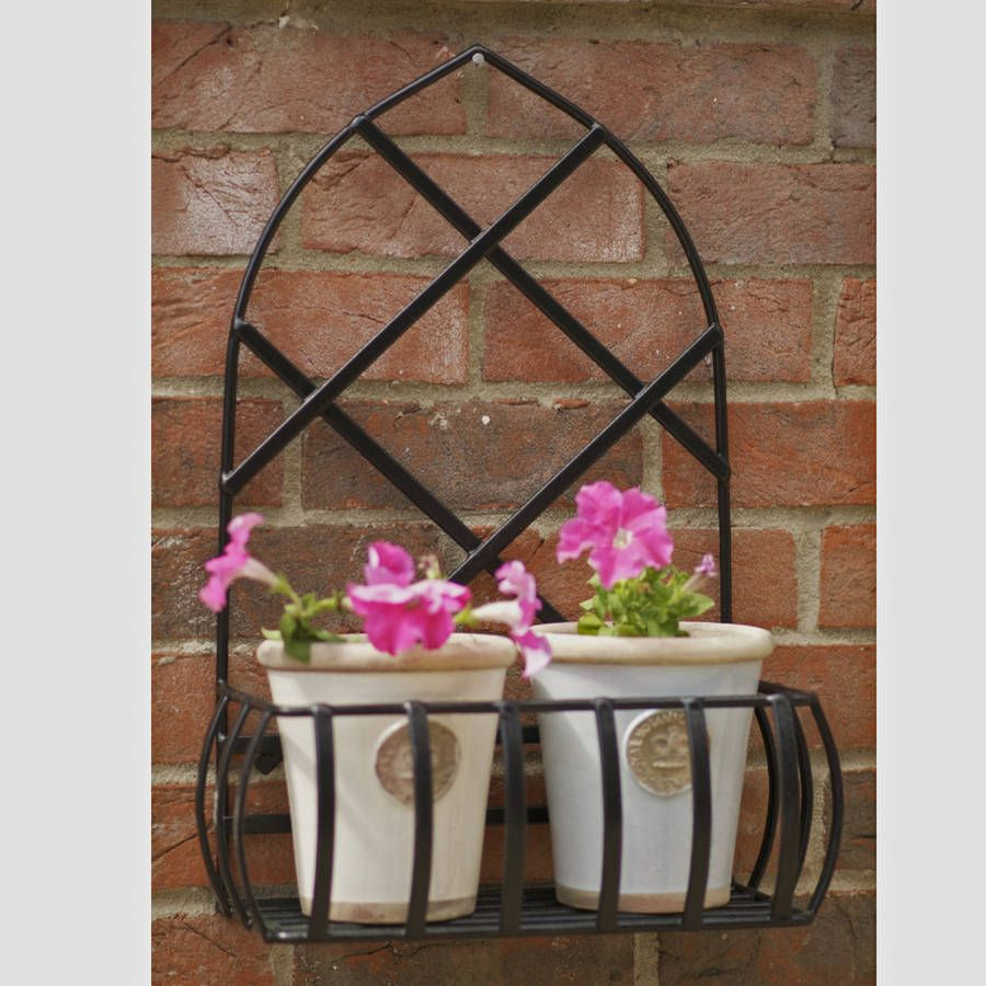 Gothic Garden Steel Wall Planter Made In Britain With Images Wall Planter Wall Planters Outdoor Planters