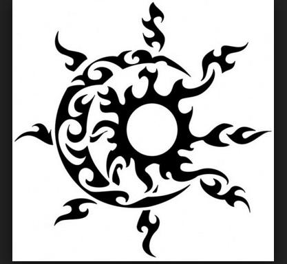 Eclipse Tribal Boda Tattoos Tribal Sun Y Moon Sun Tattoo
