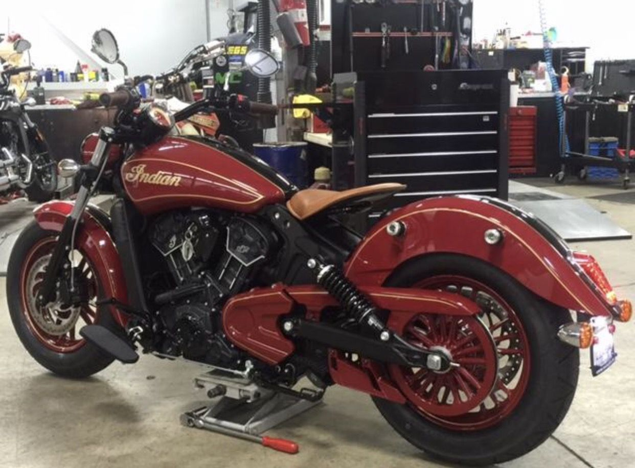 Retro Indian Scout motorcycle Indian motorcycle scout