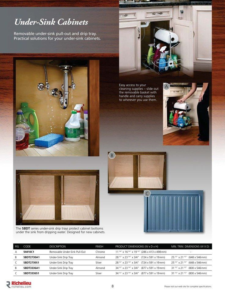 Catalog - Storage Accessories - page 8  Pull out for cleaning supplies!!!