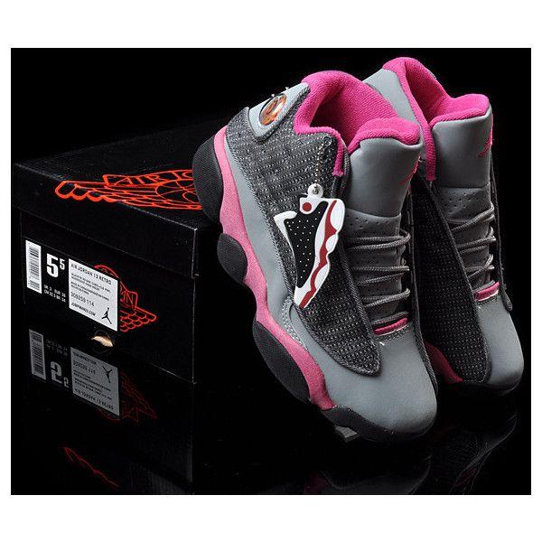 détaillant 45f9e 44b47 Women's Nike Air Jordan 13 Retro Sneakers Grey/Rose Red WJ13 ...