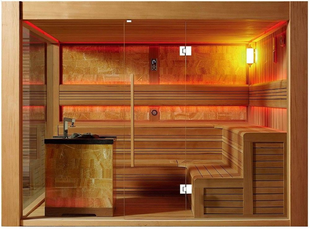 Maison Sauna préfabriquée maison en bois gazebo en plein air sauna salle de