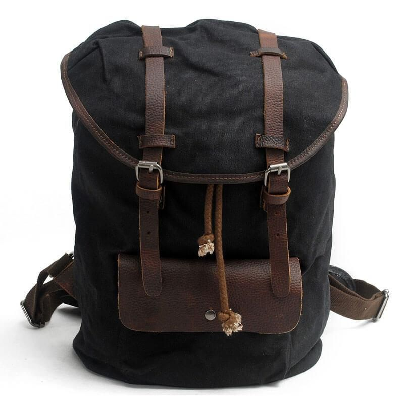 aa092acb6df8b Handcrafted Waxed Canvas Travel Backpack School Backpack Hiking Rucksack  Laptop Backpack2036K