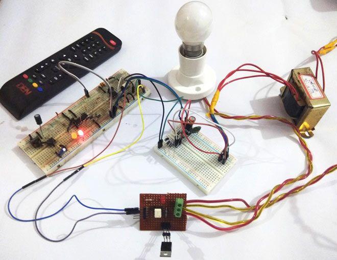 ir remote controlled triac ac light dimmer circuit electronic rh pinterest com Lamp Dimmer Circuit electronic light dimmer schematic