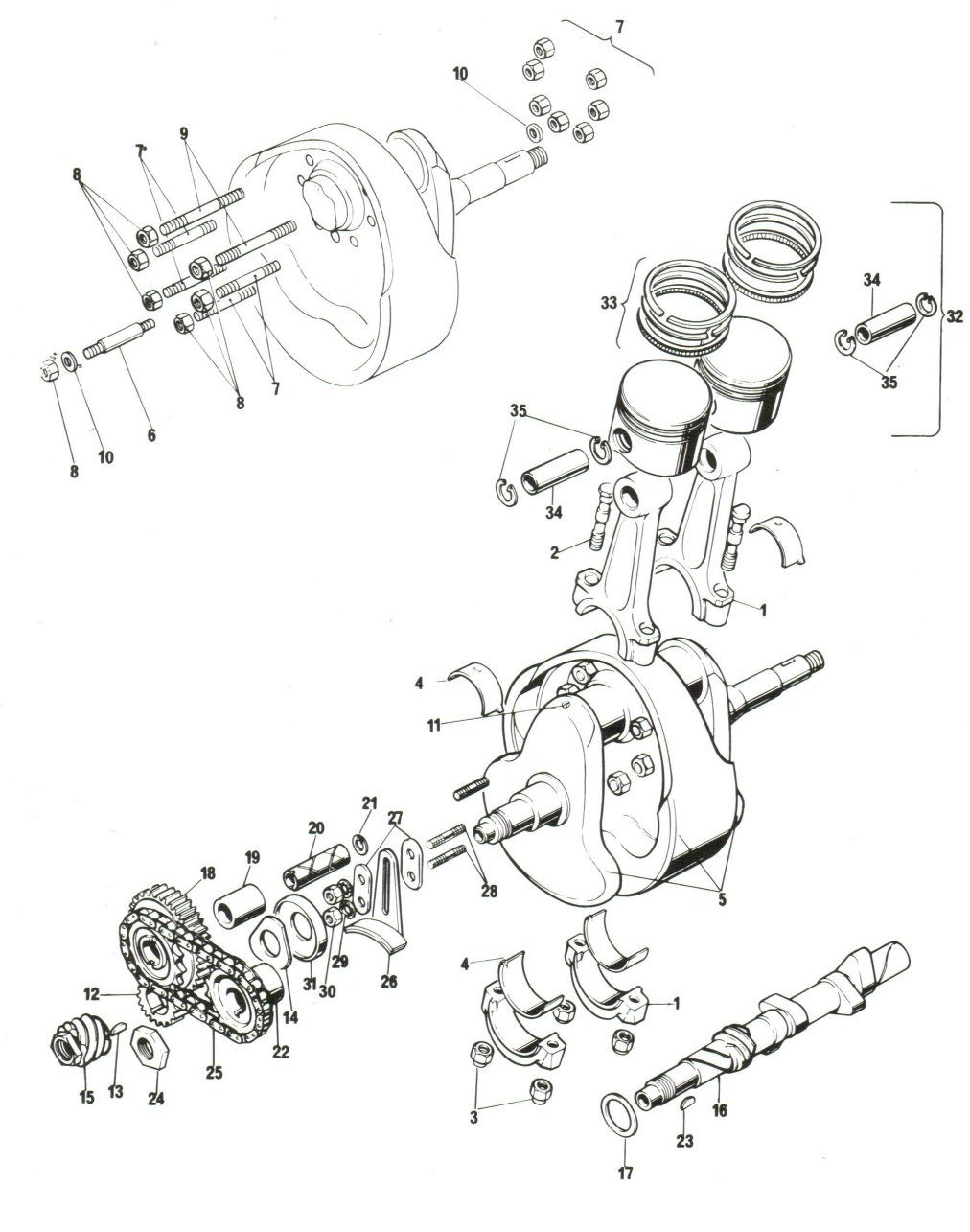 Piston exploded view