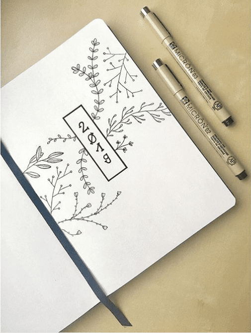 Top 15 Hello 2019 Bullet Journal Cover Pages | ElizabethJournals