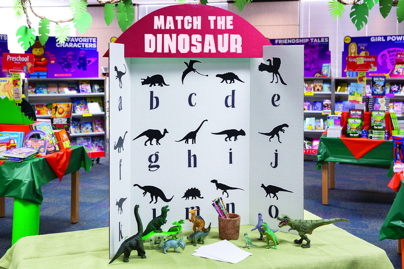 When Students Make A Purchase Give Them A Fun Game To Play Make A Display Of Dinosaur