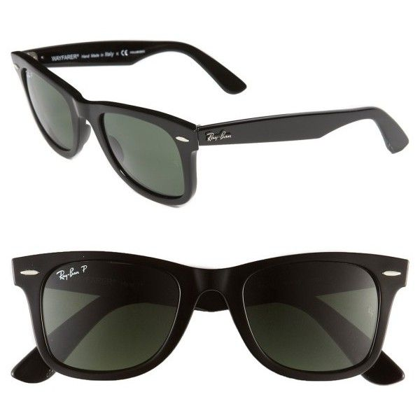 44202021f50 Women s Ray-Ban Standard Classic Wayfarer 50Mm Polarized Sunglasses (£110)  ❤ liked on Polyvore featuring accessories