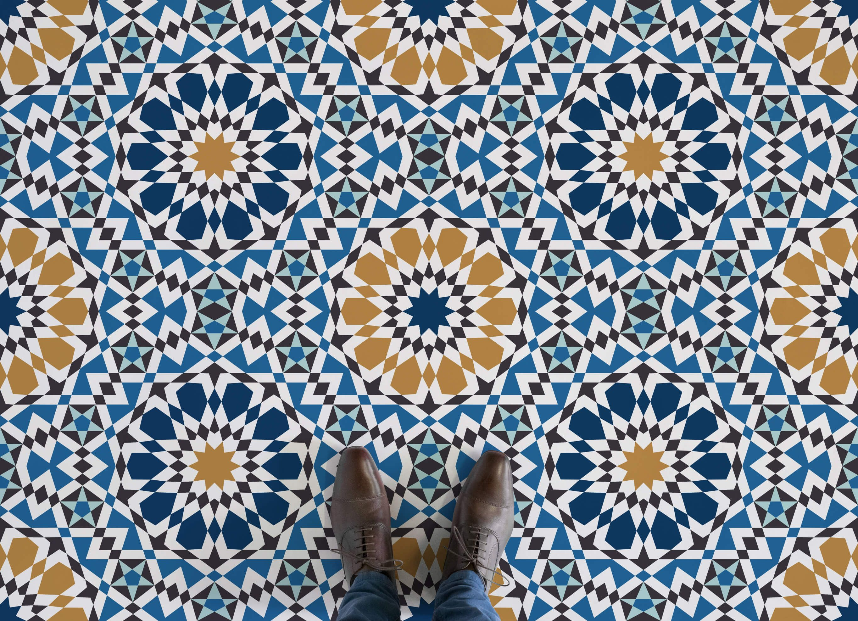 Marrakech Moroccan Pattern Vinyl Flooring Patterned Vinyl