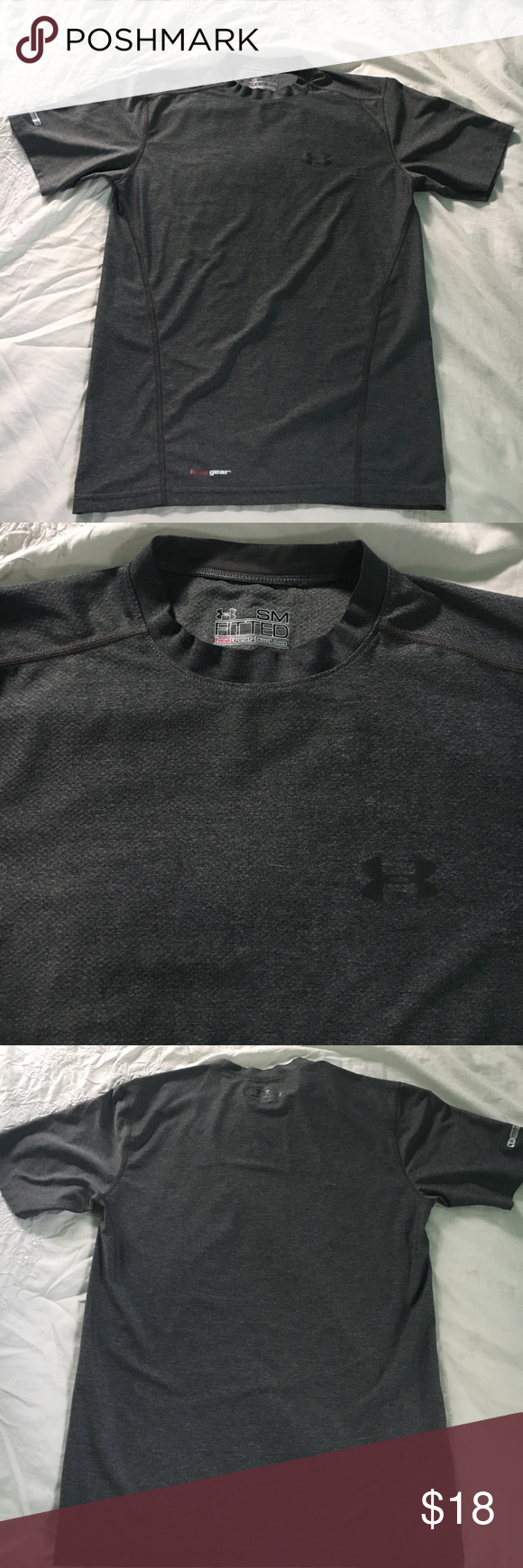 NWOT gray under armour performance shirt Never worn, perfect condition | heat gear | fitted | crew neck Under Armour Shirts Tees - Short Sleeve