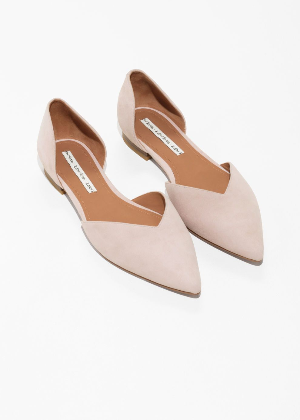 781b6ceb704c05 Back image of Stories pointed ballerina flats in pink