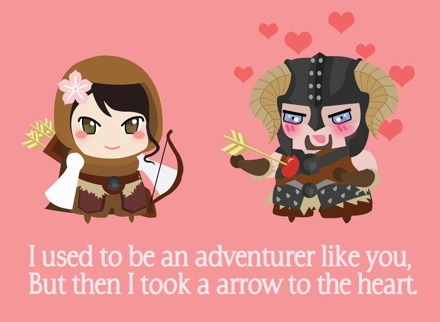 Top 25 ideas about Heart Day Cuteness – Gamer Valentine Cards