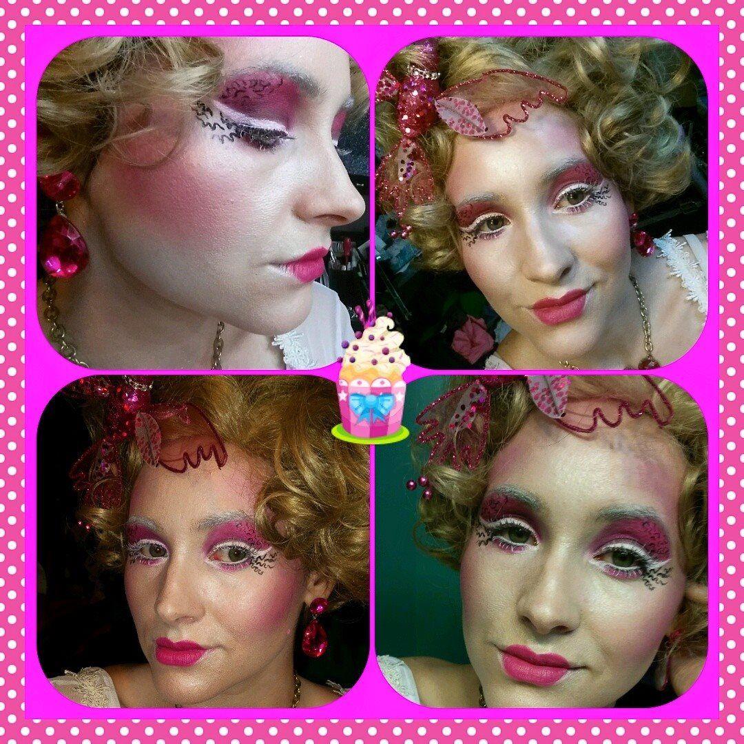 The Hunger Games Effie Trinket Halloween Costume Makeup