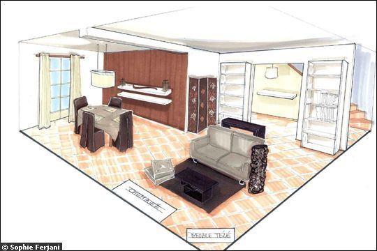 Sophie ferjani dessin recherche google interior design - Decoratrice interieur maison a vendre ...