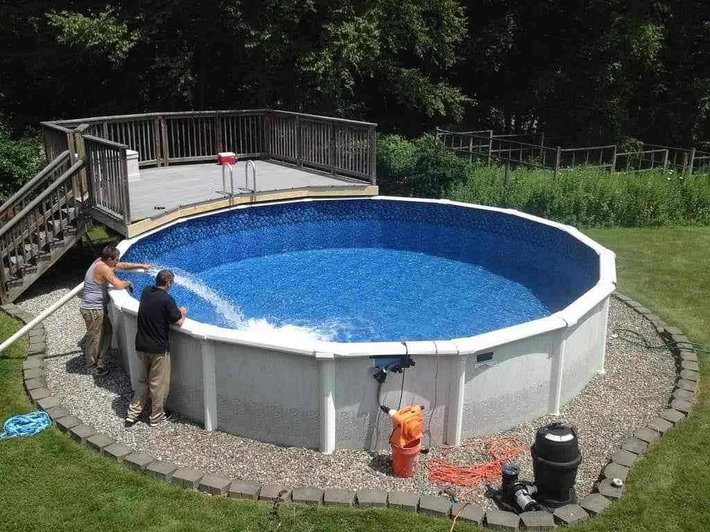 14 Ideas How to Build Above Ground Pool Backyard Ideas in ...