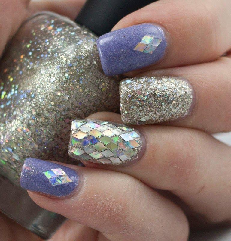 Violet Glitter Nails Httpbloodandpolishspot201412