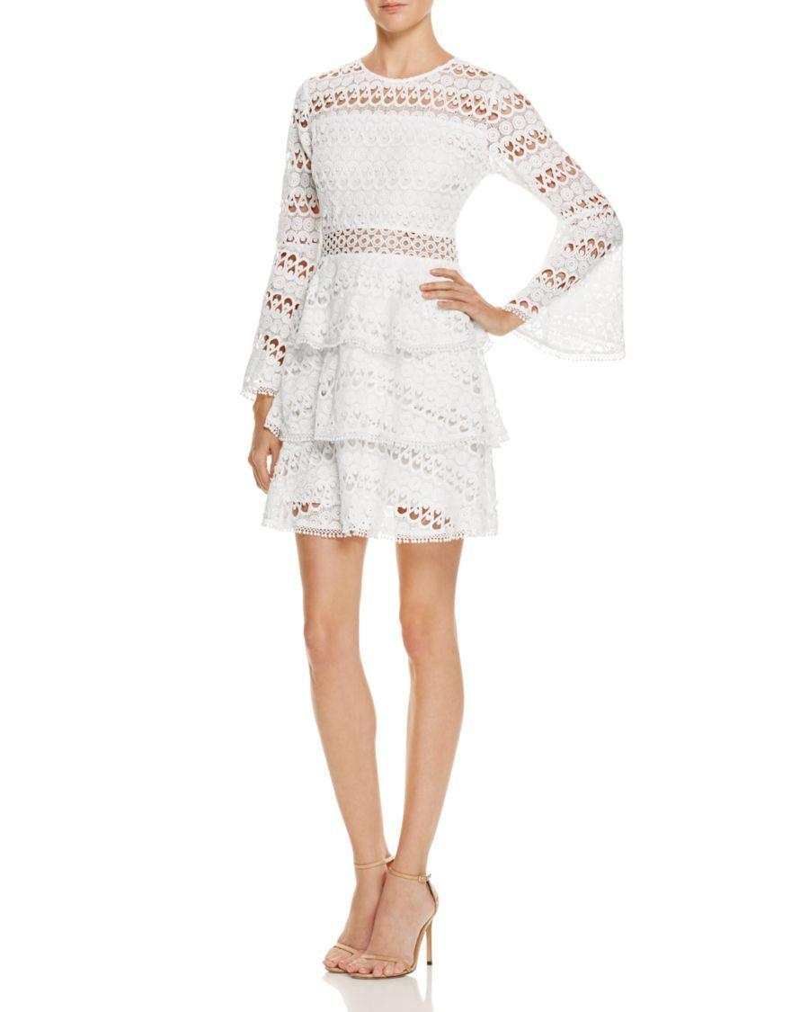 596a681b58d AQUA Bell-Sleeve Lace Dress - 100% Exclusive