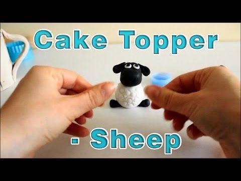 How To Make A Sugar Paste Fondant Sheep Cake Topper | HappyFoods Tube #shaunthesheep