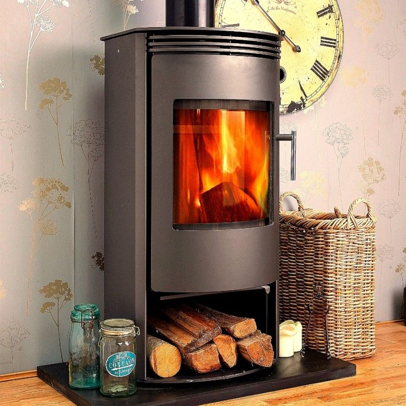698 79 Jupiter Contemporary Modern Multi Fuel Woodburning Stove 7kw